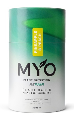 MYO Plant Nutrition REPAIR BCAA, CBD, GLUTAMINE Pineapple & Peach 250g